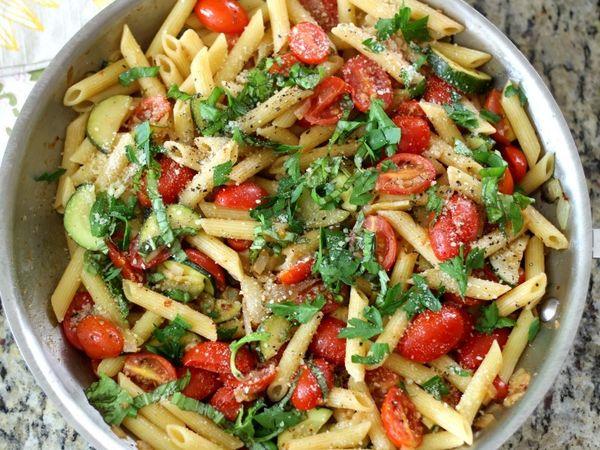 Tomato And Zucchini Penne Pasta A
