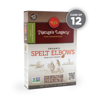 Natures Legacy Whole Spelt Elbows Original Packaging 12 Pack